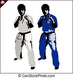 karate, shinkyokushinkai, vechter
