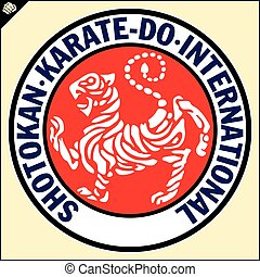 Karate shotokan tiger. Reb emblem Budo, Japan - Karate...