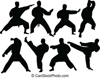 karate, silhouette
