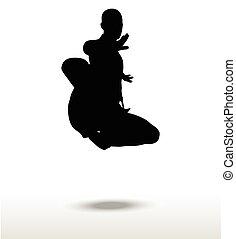 karate silhouette - Vector image - karate silhouette,...