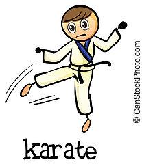 karate, stickman
