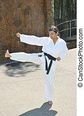 karate, szegély rúgás