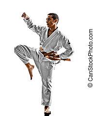 karate, teenager, kind