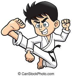 karate, tritt