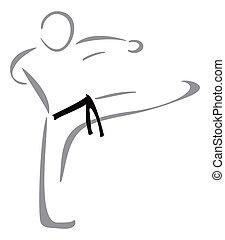 karate, vechter