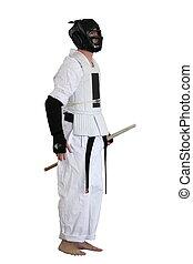 karate, verseny, ember, előkészítő, to verekszik