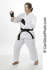 karate, vrouw
