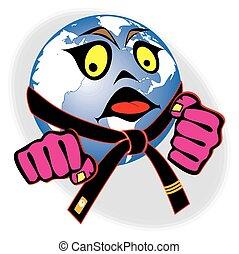 karate world earth fists belt