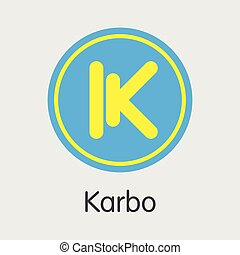 Karbo Cryptographic Currency - Vector Element. - ...