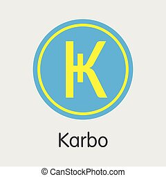Karbo Cryptographic. Vector KRB Pictogram. - Karbo - Virtual...