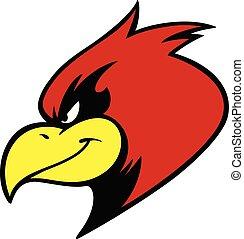 kardinal, maskottchen