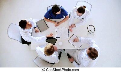 kardiogram, szpital, grupa, leczy