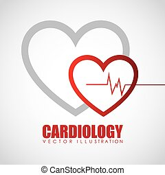 kardiologi, ikon