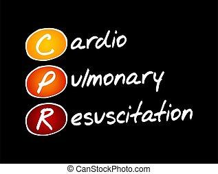 kardiopulmonal, -, wiederbelebung, cpr, akronym
