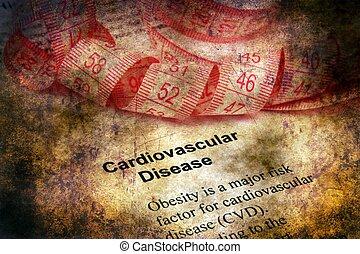 kardiovaskulär, krankheit, grunge, begriff