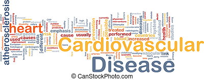 kardiovaskulär, krankheit, hintergrund, begriff