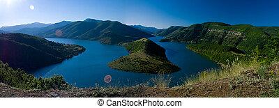 Kardjali lake Bulgaria - high view of Kardjali lake Bulgaria...