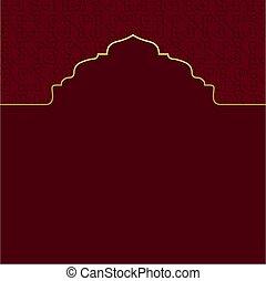 kareem, conception, islamique, fond, ramadan