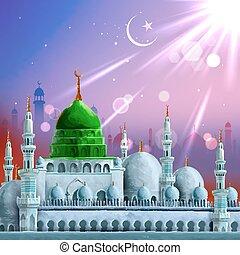 kareem, (generous, ramadan, hintergrund, ramadan)