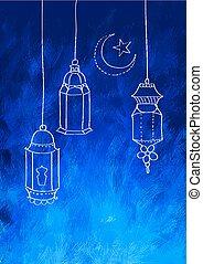 kareem, (generous, ramadan, plano de fondo, ramadan)