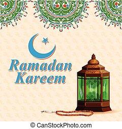 kareem, (happy, ramadan, plano de fondo, ramadan)