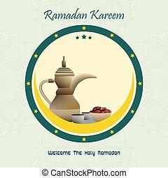 kareem, iftar, celebración, ramadan, fiesta