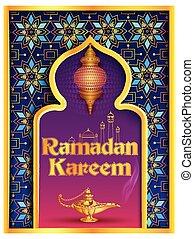 kareem, mezquita, ramadan, plano de fondo, islámico, saludos