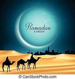 kareem, ramadan, φόντο , φεγγάρι
