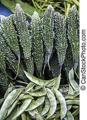 Karela on Mumbai market, India