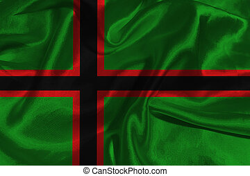 Karelia flag 3D illustration symbol.