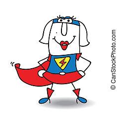 Karen superhero - Karenis a superwoman