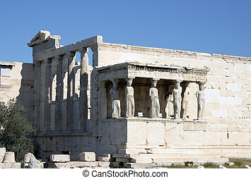 Kariatides Erechteion - One of the most known statues of the...