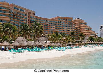 karibisch, erholungsort- hotel