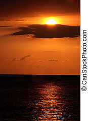 karibisch, sonnenuntergang