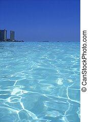 karibisk hav, blå, turkos, vatten, in, cancun