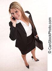kariera, hispanic kobieta, pociągający, dorosły