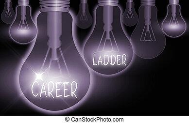 kariera, ladder., ruchliwość, profesjonalny, zwyżkowy, słowo...