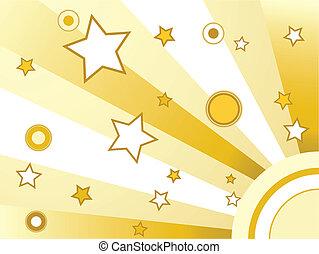 karikák, csillaggal díszít, háttér