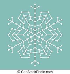karikák, geometriai, megvonalaz, hópehely