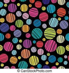karikák, motívum, kifejlesztett, színezett, seamless