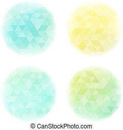 karikák, motívum, sima, háromszögek