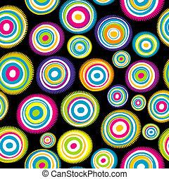 karikák, seamless, színezett