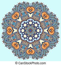 karika, dekoratív, lelki, indiai, jelkép, közül, lotus virág