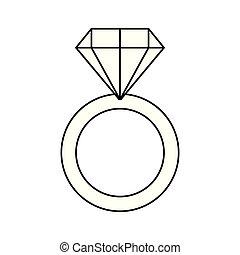 karika, eljegyzés, gyémánt