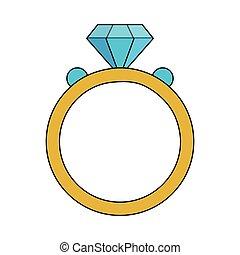 karika, gyémánt, esküvő