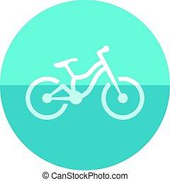 karika, ikon, -, hegy bicikli
