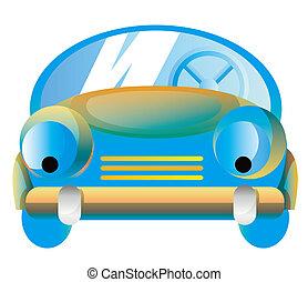 karikatúra, autó