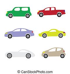 karikatúra, autók