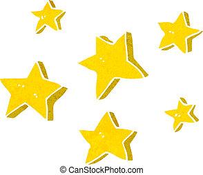 karikatúra, csillaggal díszít