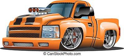 karikatúra, feltuningolt autó